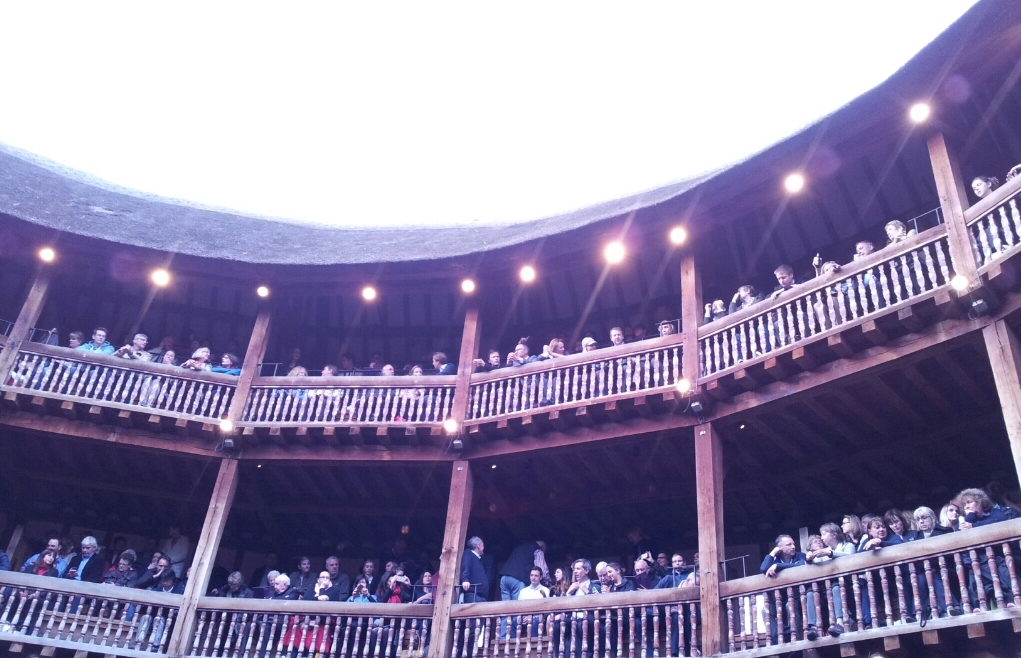 View of the seats from the groundling area