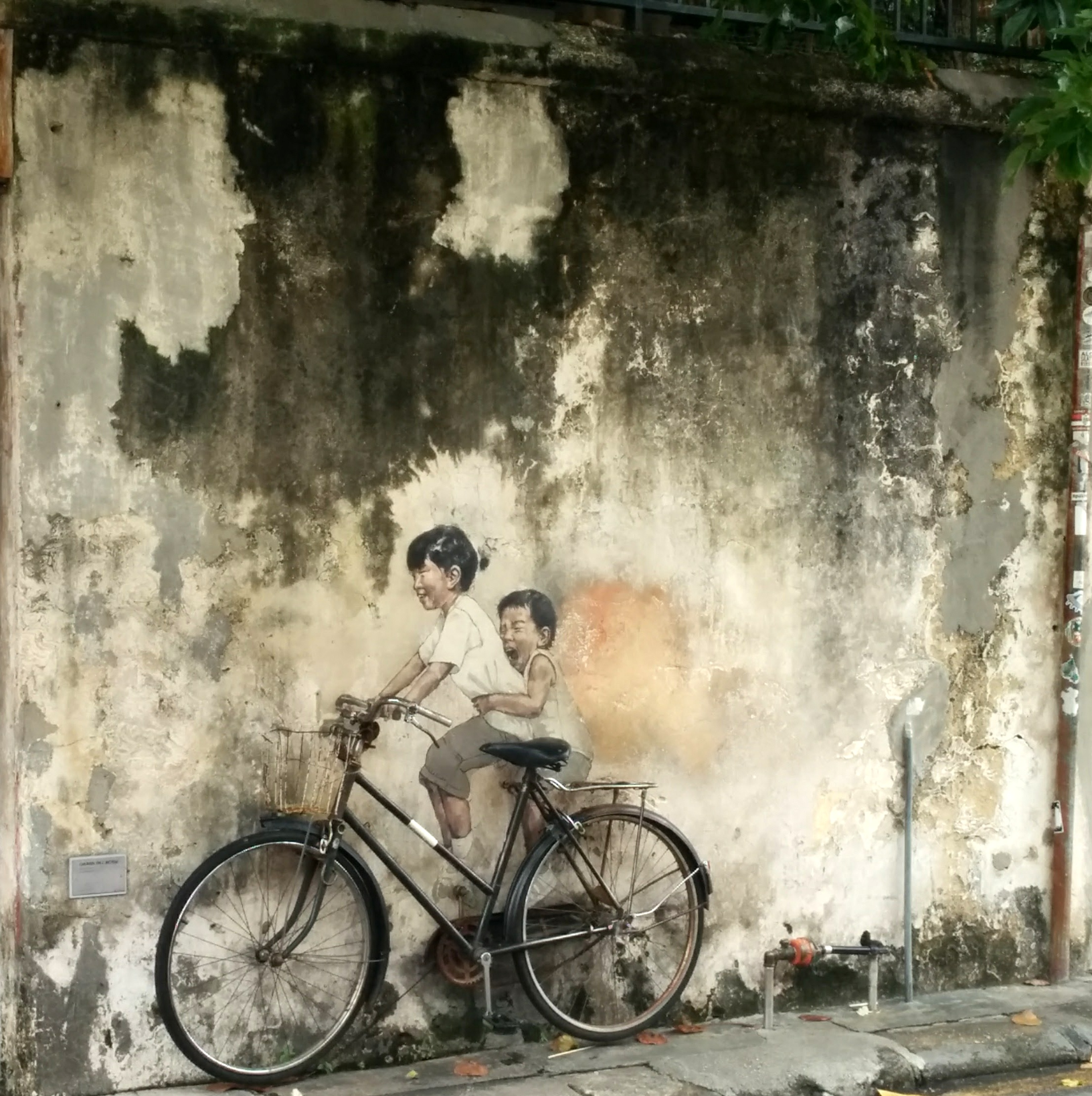 Penan'g most famous mural. It is a miracle that I caught it with no tourists!